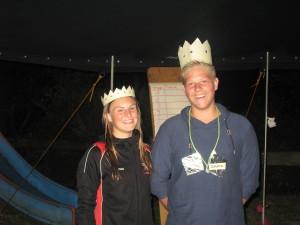 König der Jungen Simon Dirks mit seiner Königin Emma Lehmkuhl