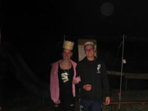 Königin der Mädchen Malou Kreyelkamp mit ihrem König Florian Strotmeier